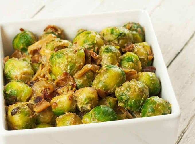 Creamy Bacon-Onion Brussels Sprouts