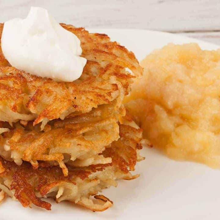 Crispy Potato Latkes (Potato Pancakes)