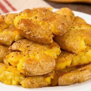 Crispy Smashed Truffled Potatoes