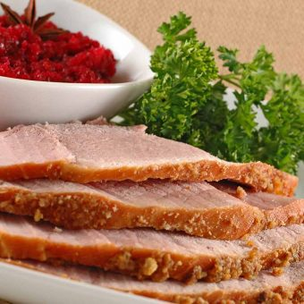 Crumb-Crusted Baked Ham
