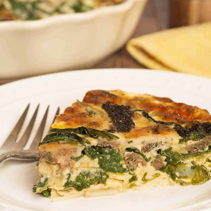 Crustless Quiche with Morel Mushrooms