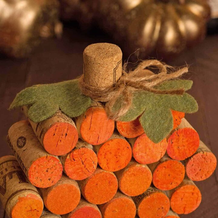 DIY: How To Make A Wine Cork Pumpkin