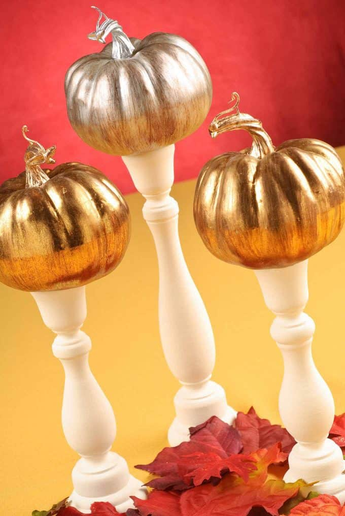 DIY Table Decor Fall Pumpkin Trio