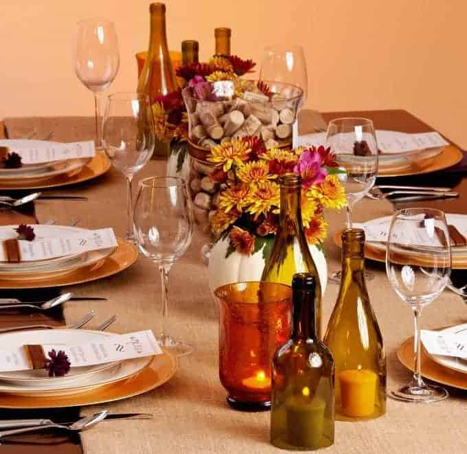 DIY Table Decor Thanksgiving