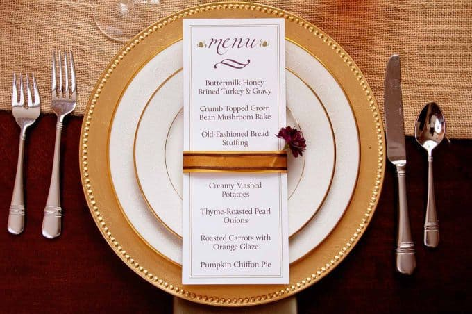 DIY Table Decor Thanksgiving Place Setting