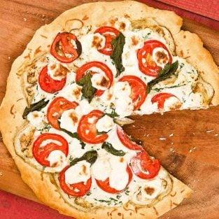 Eggplant Ricotta Pizza
