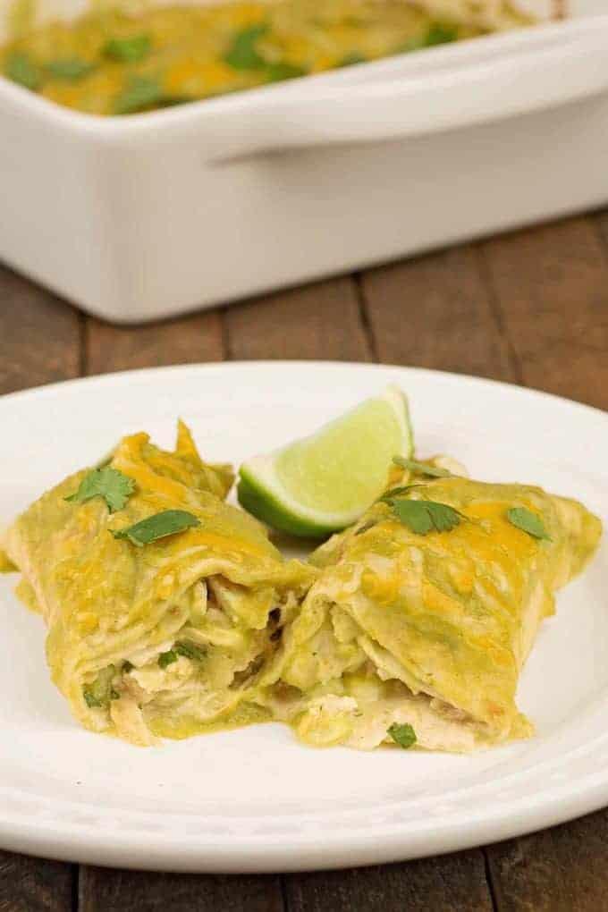Enchiladas Verde (Chicken Enchiladas)