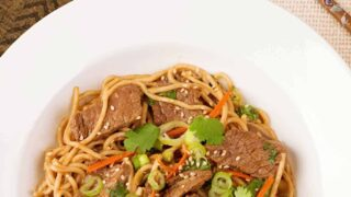 Five-Spice Beef and Noodle Stir Fry