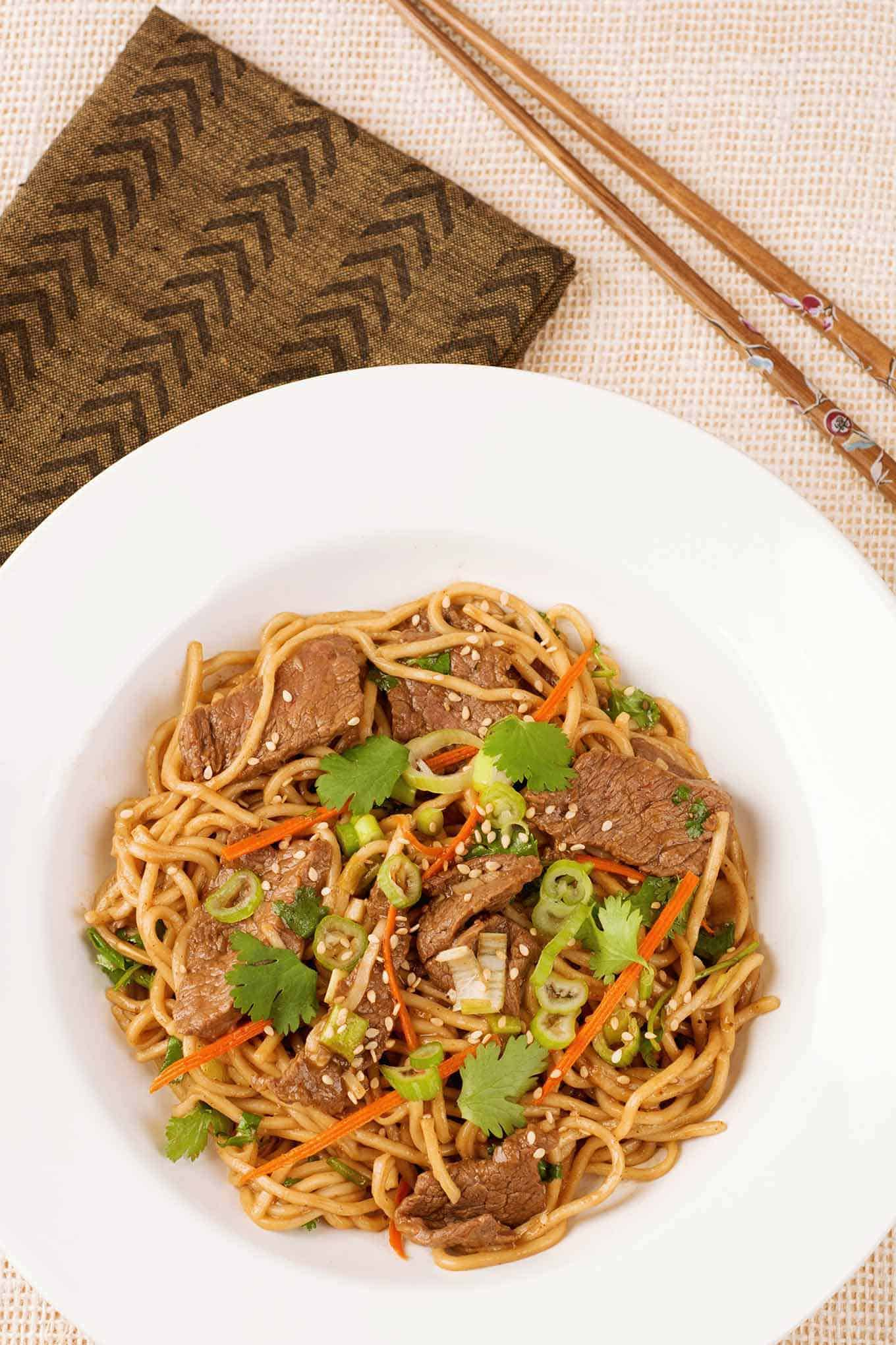 Five Spice Beef And Noodle Stir Fry Recipe Mygourmetconnection