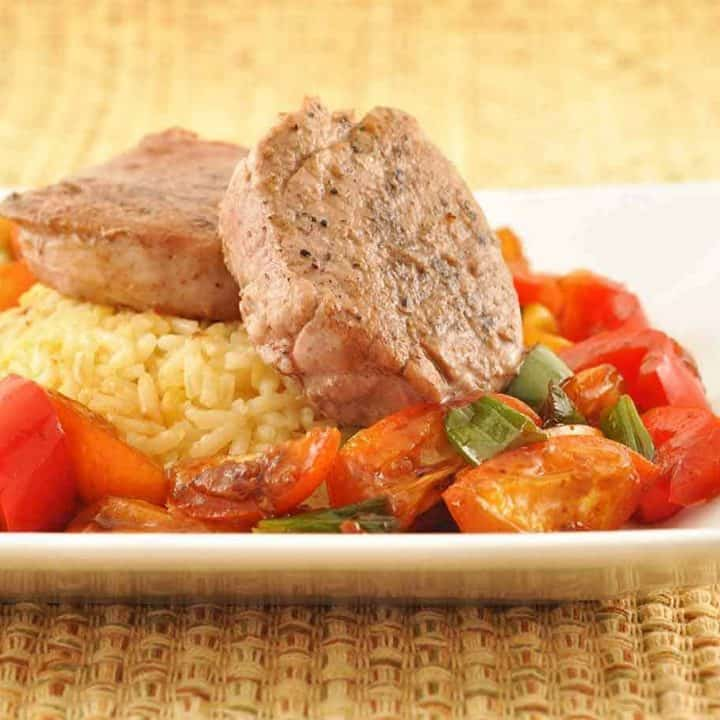 Five-Spice Pork Medallions with Kumquats and Peppers