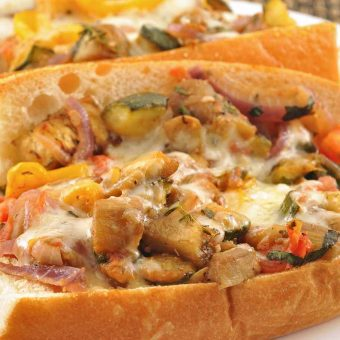 Fontina-Topped Ratatouille Sandwiches