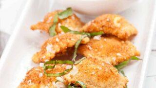 Appetizer: Fried Ravioli with Marinara