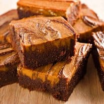 Fudgy Pumpkin Cream Cheese Brownies