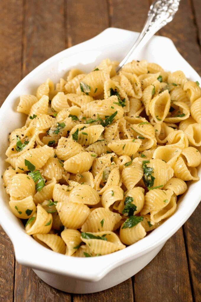 Garlic Buttered Pasta Shells