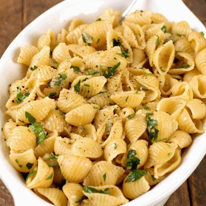 Garlic-Buttered Pasta Shells