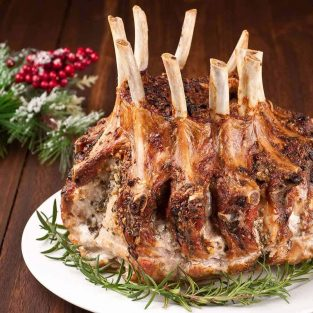 Garlic Herb Crusted Crown Roast of Pork