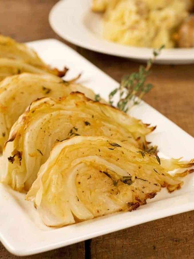 Garlic and Herb Roasted Cabbage