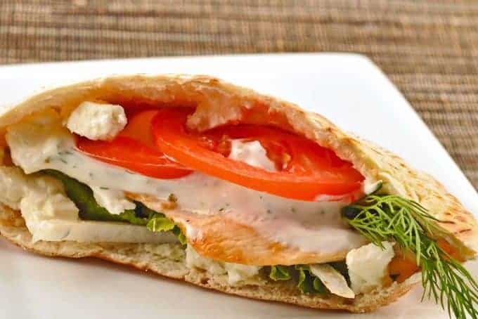 Garlic and Lemon Chicken Pita