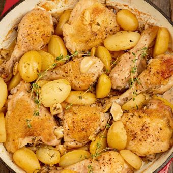 Garlic and Thyme Roasted Chicken and Potatoes
