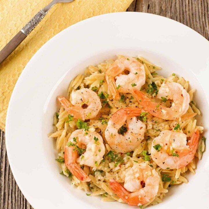 Sautéed Shrimp With Orzo