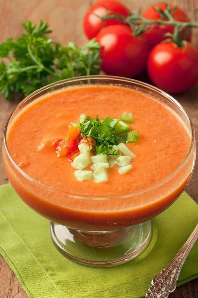 Spanish Cuisine: Recipe for Gazpacho Soup