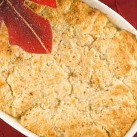 Ginger and Cardamom-Spiced Pear Cobbler