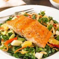 Glazed Salmon and Kale Salad