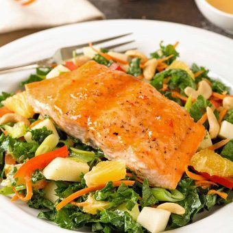 Glazed Salmon and Kale Salad