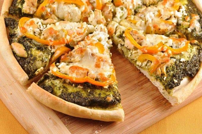 Greek Pesto Chicken Pizza