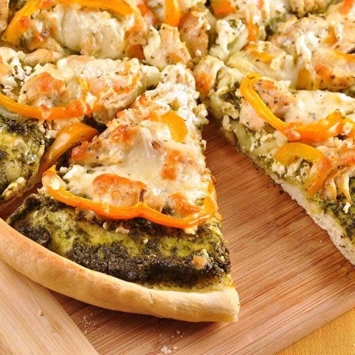 Greek Pesto Chicken Pizza
