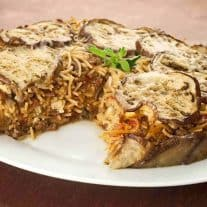 Greek-Style Eggplant and Spaghetti Pie