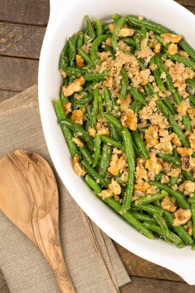 Green Beans with Toasted Walnuts and Shallots