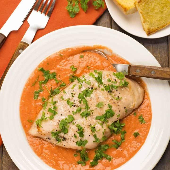 Grilled Chicken with Gazpacho Sauce