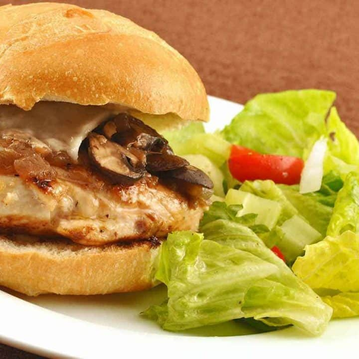 Grilled Chicken Marsala Sandwich