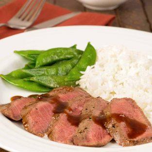 Grilled Flat Iron Steak with Orange-Hoisin Sauce
