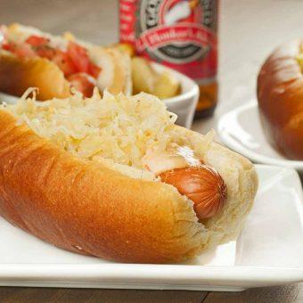 Grilled Reuben Dogs