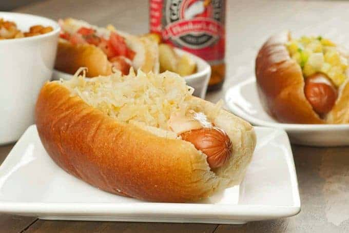 Grilled Reuben Dogs