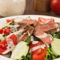 Grilled Steak Salad with Horseradish Ranch Dressing