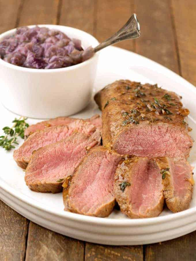 Guiness Glazed Lamb with Red Onion Jam