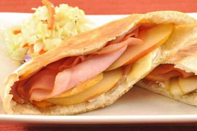Ham, Blue Cheese and Pear Melts