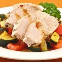 Herb and Butter Poached Chicken w/Vegetables