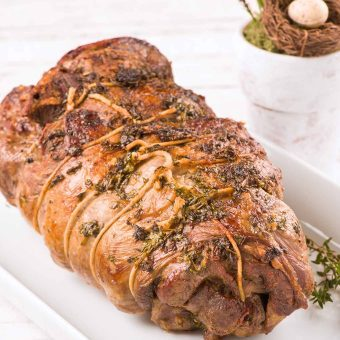 Herb Roasted Boneless Leg of Lamb