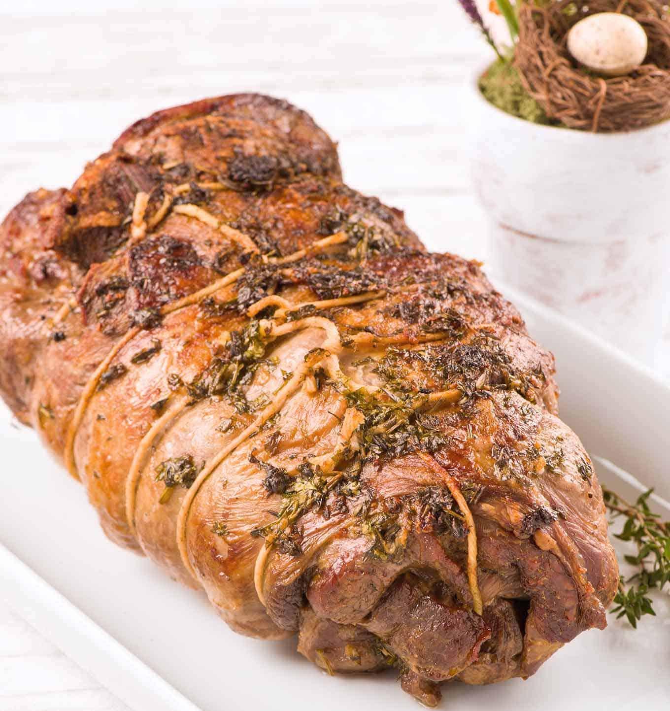 Herb Roasted Boneless Leg of Lamb