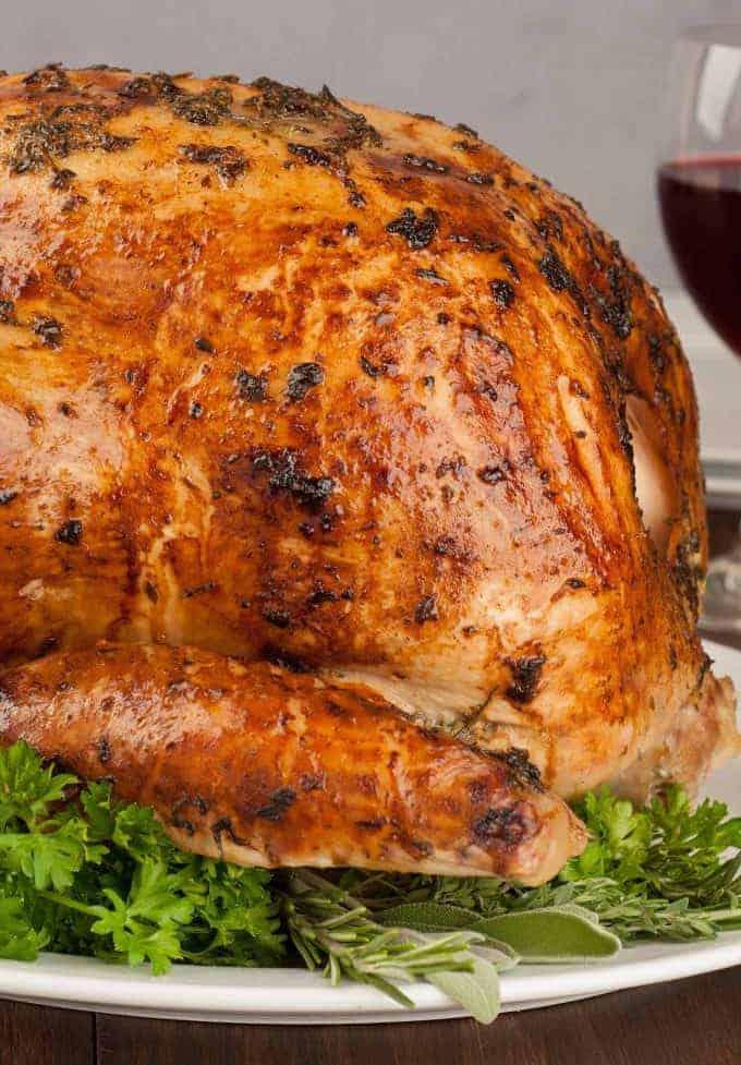Roast Turkey with Mayonnaise Coating