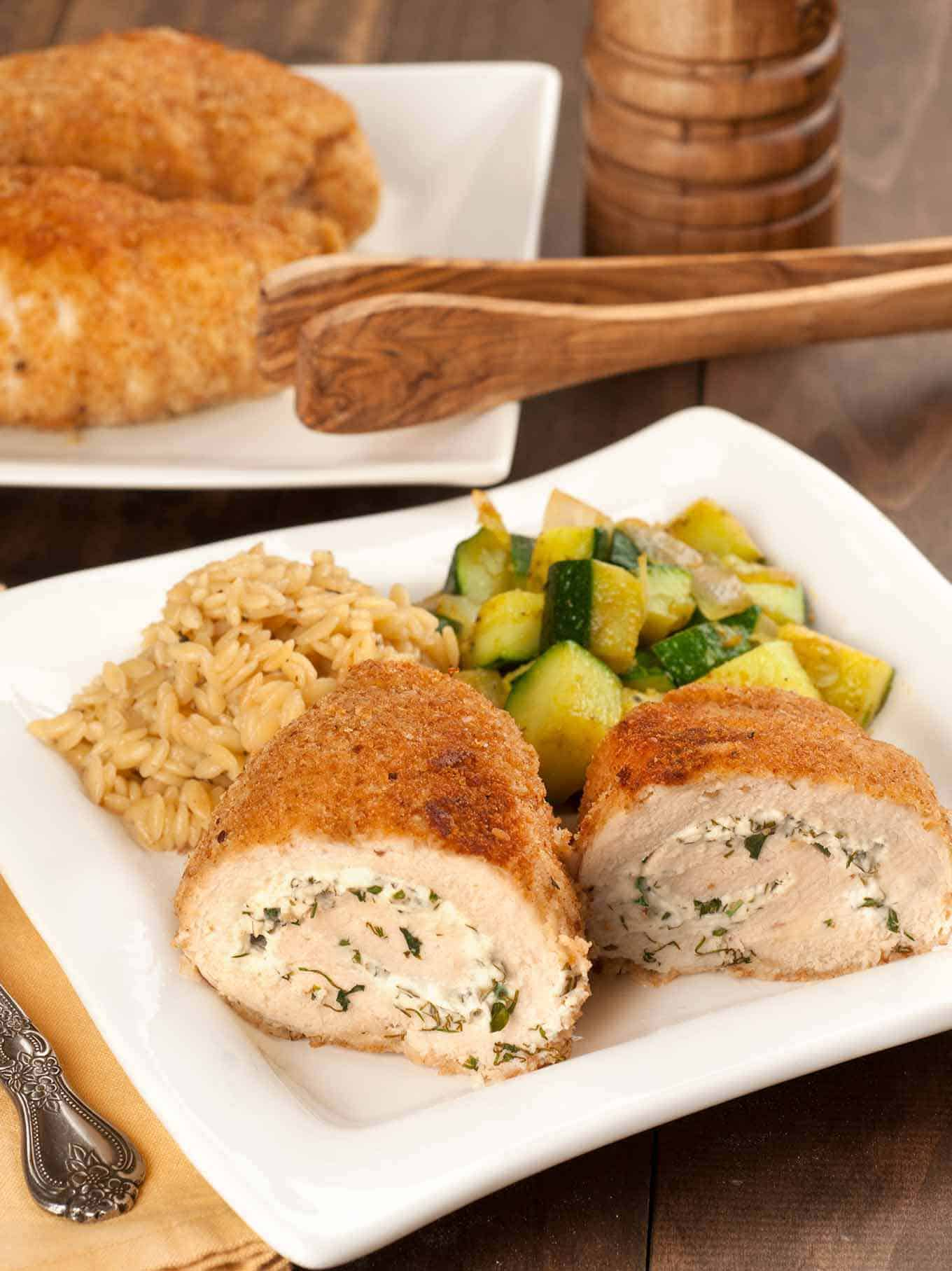 Herbed Goat Cheese Stuffed Chicken Breasts Mygourmetconnection