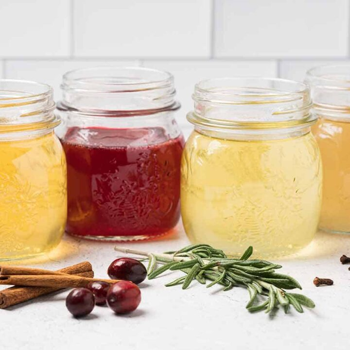 Holiday Spiced Simple Syrups