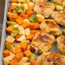 Honey Balsamic Chicken Sheet Pan Dinner