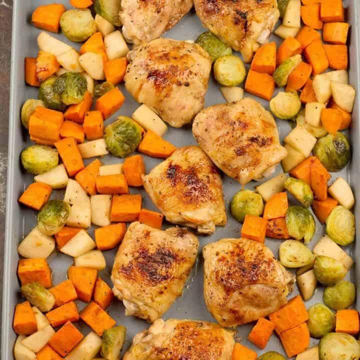 Sheet Pan Honey Balsamic Chicken Thighs