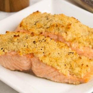 Horseradish and Crumb Crusted Salmon