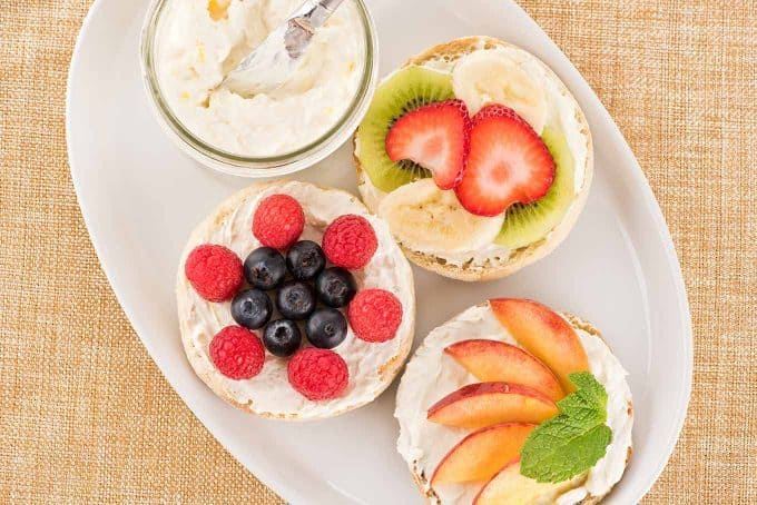 Host A Brunch Fruit Topped Bagels